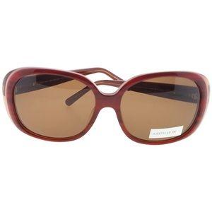 JL5007-06-59 Oval Women's Ruby Frame Sunglasses